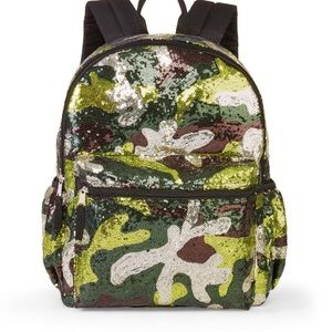 NWT Sequin Camo Backpack Bag